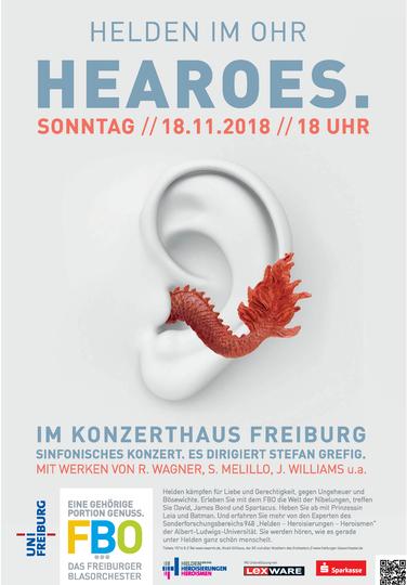 """""""HEAROES. Helden im Ohr"""" am 18.11. im Konzerthaus Freiburg"""