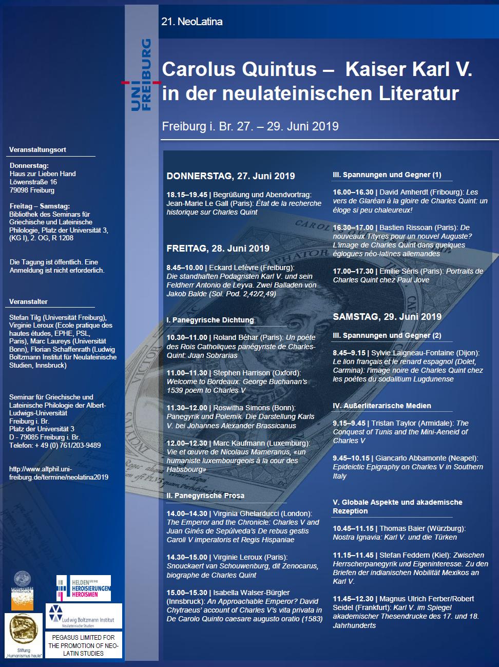 Carolus Quintus: Kaiser Karl V. in der neulateinischen Literatur