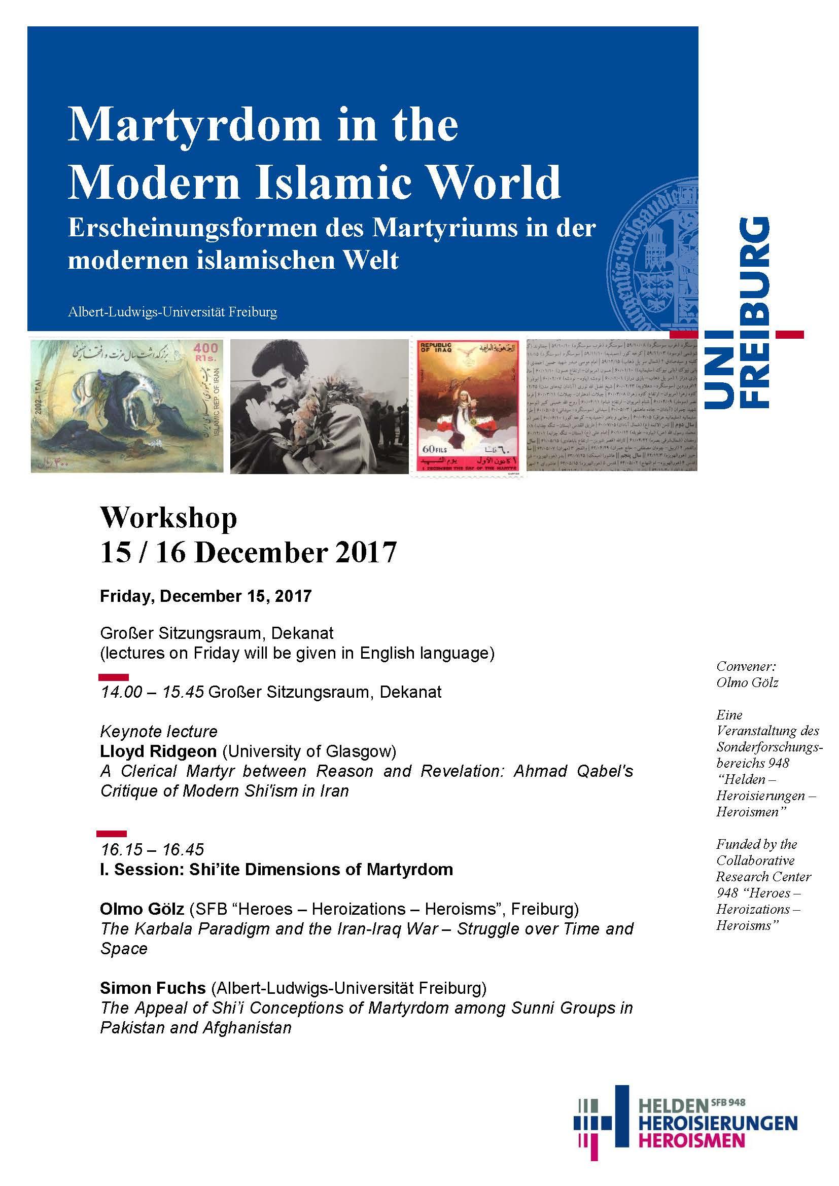 Martyrdom in the Modern Islamic World