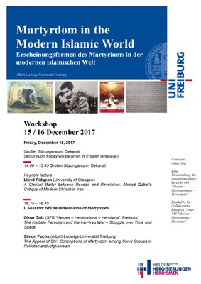 Martyrdom in the Modern Islamic World