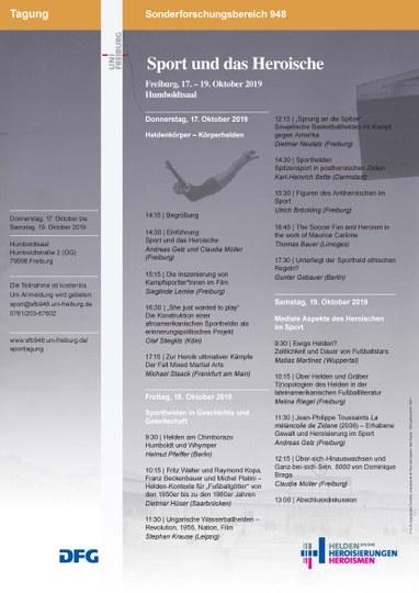 """Plakat Tagung """"Sport und das Heroische"""""""