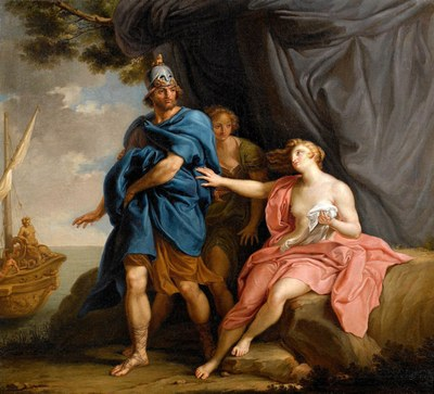 Pompeo Batoni, Dido and Aeneas (1747), gemeinfrei, https://commons.wikimedia.org/wiki/File:Pompeo_Batoni_-_Dido_and_Aeneas,_1747.jpg