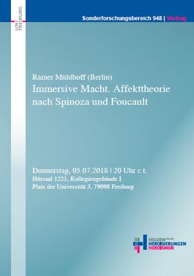 """Workshop """"Immersive Macht. Affekttheorie nach Spinoza und Foucault"""""""