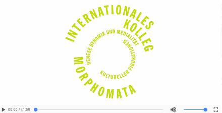 Vortrag von den Hoff Prof am Internationalen Kolleg Morphomata (Video)