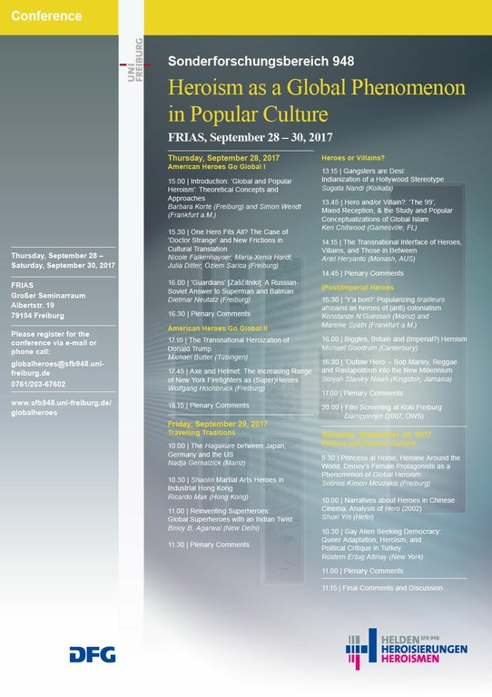 """Conference   """"Heroism as a Global Phenomenon in Popular Culture"""""""