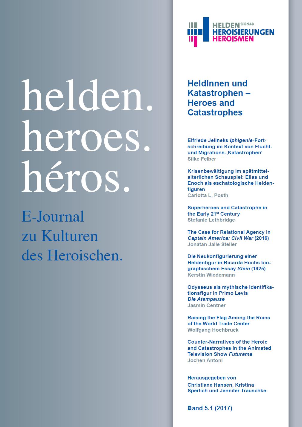 "New E-Journal Issue | ""HeldInnen und Katastrophen – Heroes and Catastrophes"""